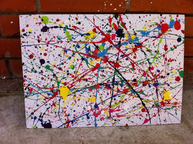 How To Splatter Paint Onto Canvas
