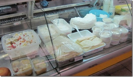 Fresh homemade cheeses