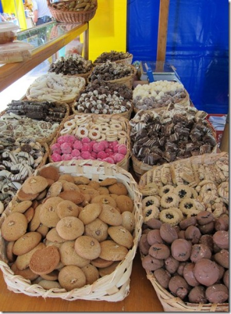 Local cookies available at the markets
